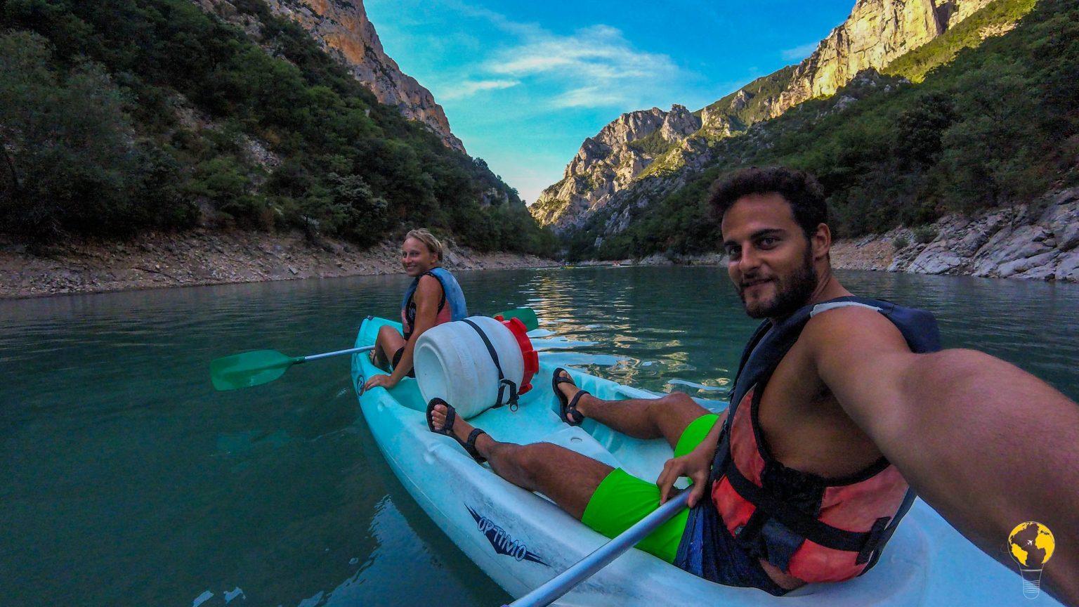 in canoa sul Verdon