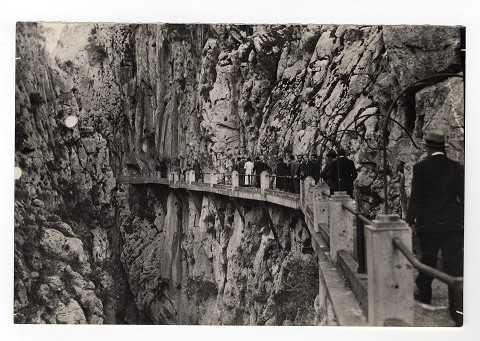 Visita al Caminito del rey Oceanografia, 21 maggio 1935 dei membri del Congresso di