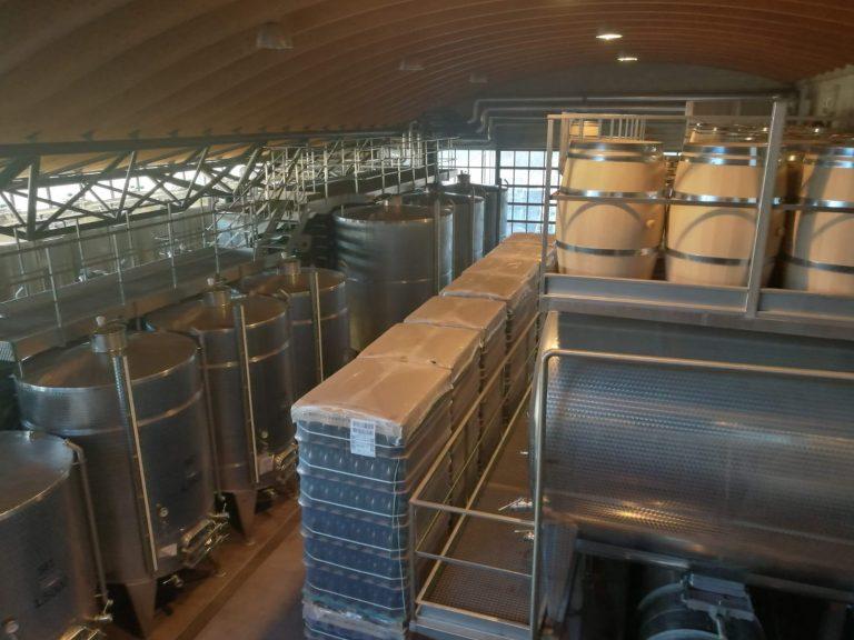 Vasche di fermentazione cantina Ratti