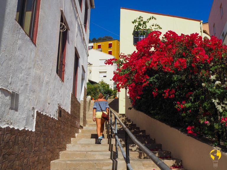 scalinata nel centro di Gibilterra