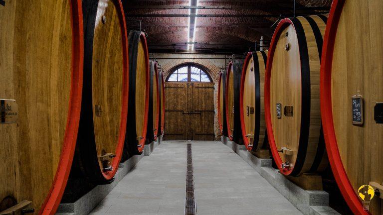 Sala per l'invecchiamento del vino