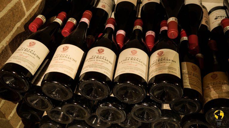 Alcune bottiglie conservate nel Caveau