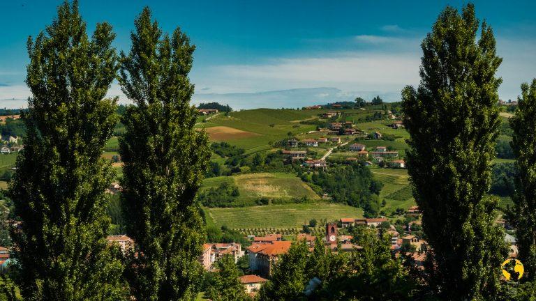 Panorama sulle Langhe dalla cantina Dogliani