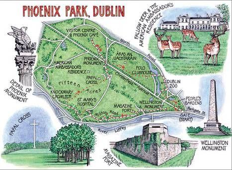 mappa di Phoenix park
