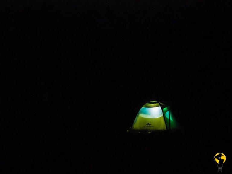 tenda di notte
